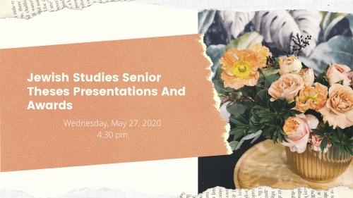 JWST Senior Theses Presentations and Awards
