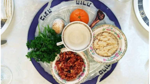 Orange on the Sedar Plate